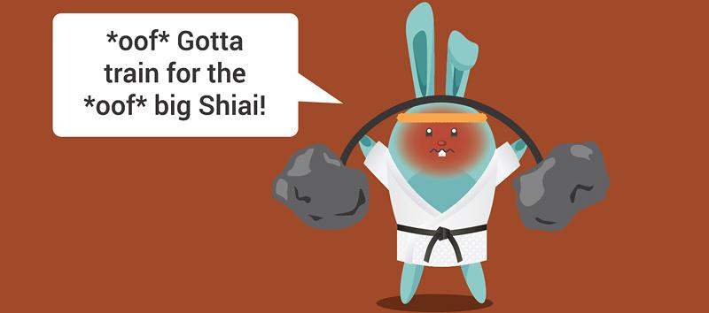 *Oof* Gotta train for the big *oof* big Shiai!