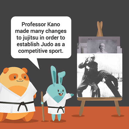 Professor Kano made many changes to jujitsu in order to establish Judo as a competitive sport.